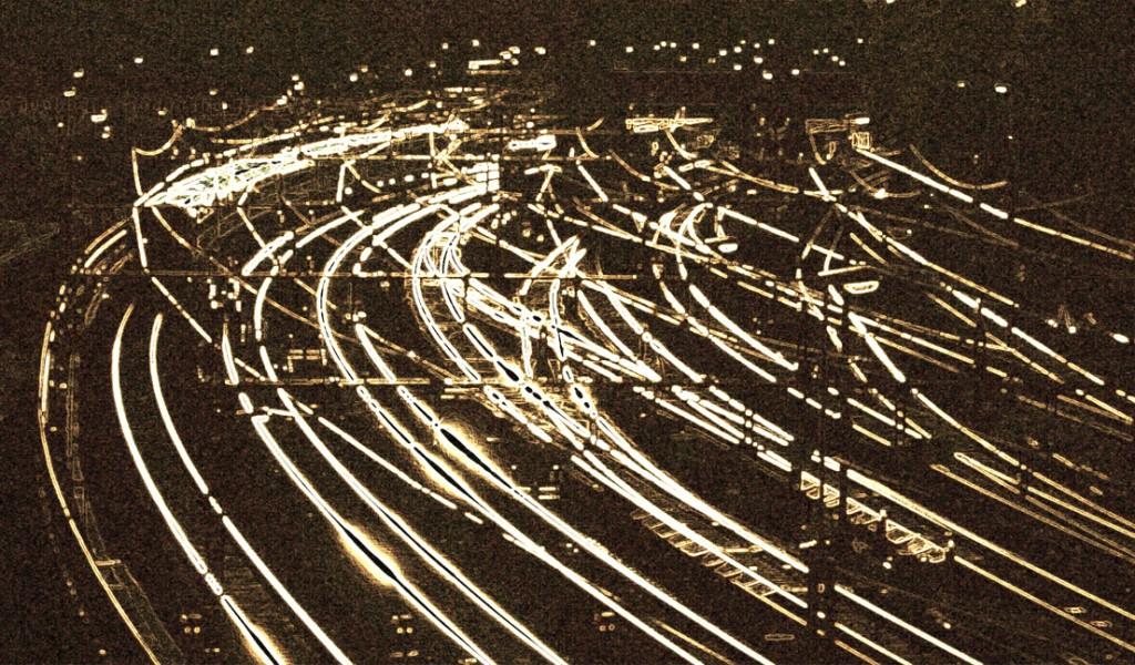 stiliserad järnväg